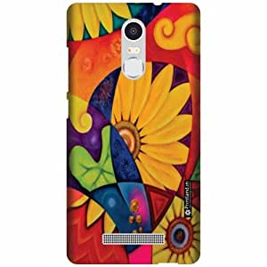 Printland Designer Back Cover for Xiaomi Redmi Note 3 - Big Flowers Case Cover