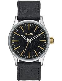 Nixon Unisex-Armbanduhr Sentry 38 Analog Quarz Leder A377 - 2222-00