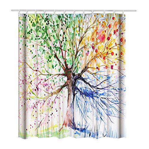 EasyBravo - Cortina Ducha Extra Grande árbol Colores