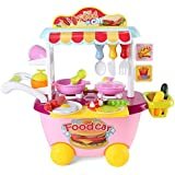 SumacLife SumacLife Children's Pretend Play Mini Fast Food Cooking Station Lunch Truck Set