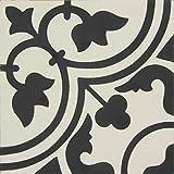 Zement Bodenfliesen glasiert, matt, Vintage/Retrooptik 20x20x1,5cm, 1 Krt=0,52qm, Dekor 6, MOES2113