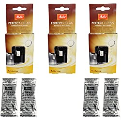 Melitta Perfect Clean Lot de 3machines à café Contenance 4tablettes à 1,8g-1500791-