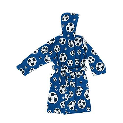 Bassetti accappatoio baby bambino goal con cappuccio cotone 100% ciniglia (8-10 anni)