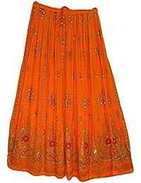 ec4864972e0 Whitewhale Womens Long Skirt India Traditional Clothing Designer for Spring  Summer