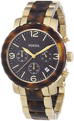 Fossil Natalie Bicolor JR1382 - Reloj cronógrafo de cuarzo para mujer, correa de diversos materiales (cronómetro)