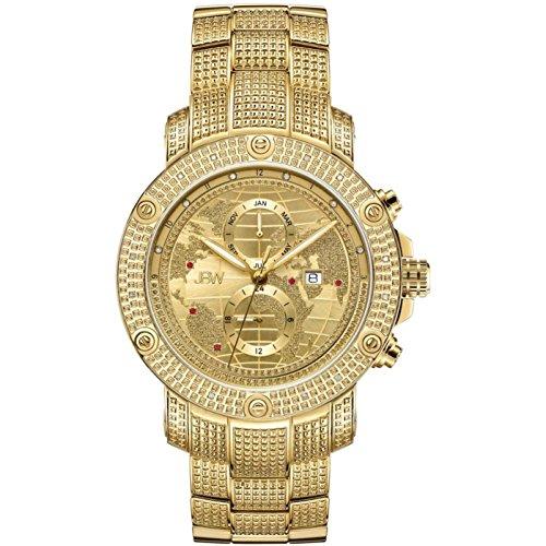 JBW Veyron Reloj de hombre diamante cuarzo suizo 48mm analógico J6360C