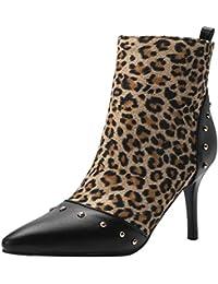 YE Bottes Chaude Courtes Bottines Sexy Femme Bout Pointu à Talons Hauts  Aiguilles Ankle Boots Woman 461e38598a27
