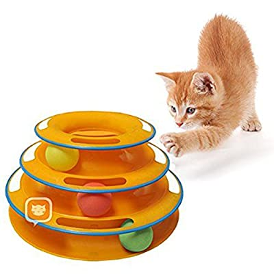 YYF Titan's Tower Safer Bar Design,Exerciser Game,Interactive Cat Ball Toy, Teaser,Anti-Slip, Active Healthy Lifestyle,Suitable for Multiple Cats