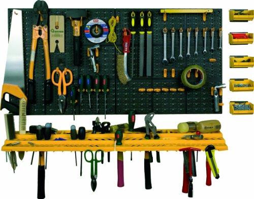 ArtPlast Werkzeug-Lochwand mit Haken + Konsolen + Sichtboxen