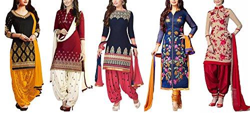 Market Magic World womens Cotton Silk Lehenga(Multicolor_MMW_Combo_7094_Free Size)