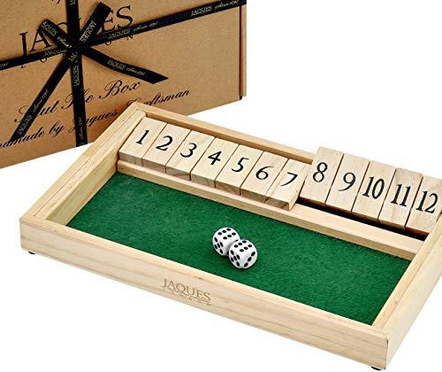 Shut The Box Spiel - 12 Numbers Holzspiele für Erwachsene - Klappbrettspiel -