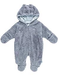 FEETJE La combinaison en peluche tenues de neige bébé, taille 50, gris