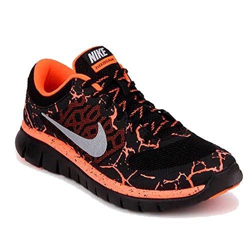 Nike Jungen Flex 2015 Rn Lava (Gs) Laufschuhe Schwarz / Silber / Rot (Schwarz / Silber-Ttl Mtllc Crmsn)