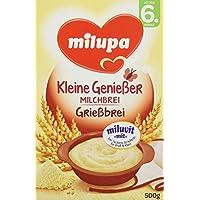 """Milupa Grießbrei mit Milch Miluvit """"mit"""" ab dem 6. Monat, 4er Pack (4 x 500 g Packung)"""