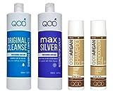 Organic Brasilianische Keratin QOD MAX SILVER Haarglättung 100% 4er Kit (1x100ml+1x250ml+2x300ml) Formaldehydfrei