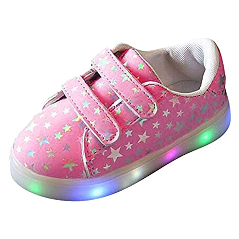 hibote Toddler Boys Girls Light Up Shoes LED Sneaker Pink
