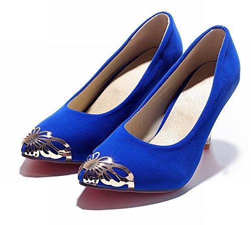 MissSaSa Donna Sottile col Tacco Alto Elegante e Bella Blue