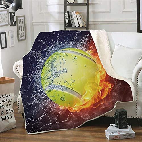 Fgvbwe4r 3d ball sports sherpa coperta velluto peluche coperta in pile copriletto divano divano copripiumino coperta da viaggio, 10.150 * 130