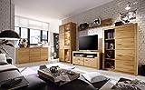 lifestyle4living Wohnzimmerschrank, Wohnwand, Schrankwand, Anbauwand, Fernsehwand, Wohnzimmerschrankwand, Wohnschrank, Asteiche teilmassiv, massiv, geölt