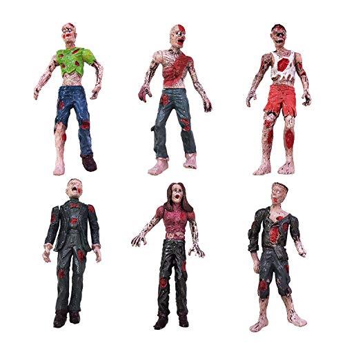 YIJIAOYUN Juego 6 Juguetes Zombie Figuras