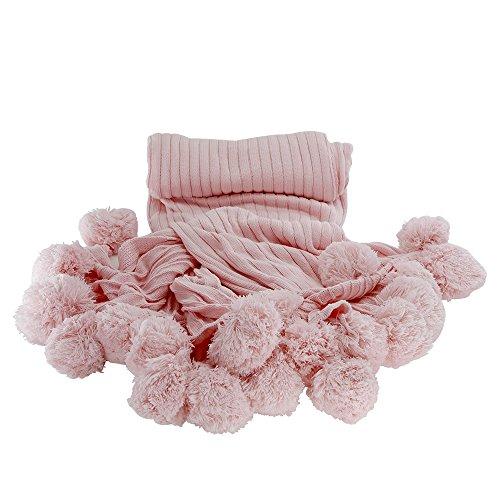 MYLUNE HOME 100% Baumwolle Mode Gestrickte Decke auf Stuhl Sofa und Bett für Bettwäsche und schlafende 150x200cm - Bettwäsche-sofa-stuhl