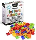 80-teiliges Alphabet Magneten Set | ABC Lernspielzeug | Magnetische Buchstaben & Nummern aus Plastik | Lernspielzeug für Kleinkinder für Buchstaben, Nummern & Farberkennung | Magnetische Groß- & Kleinbuchstaben, von Boxiki Kids