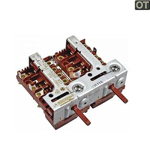 Kochplattenschalterblock 2er-Einheit YH80-150 rechts 00643741 643741 Bosch, Siem -