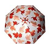 NWYJR Folding Umbrellas Blätter Auto Open/Close Windproof Rahmen Rutschfeste Griff Schnelle Trocknung Anti-UV-Sonnenschutz Regenschirm