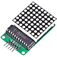 DaoRier Módulo de Control de Matriz de Puntos MAX7219 Módulo MCU módulo DuPont línea 5