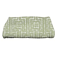 "Ebydesign Woven Tiki Geometric Print Bath Towel, 28 x 58"", Green"