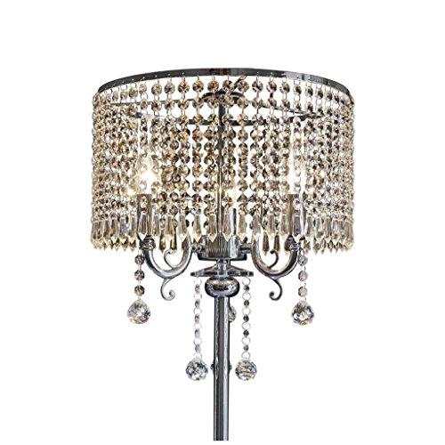 GX Standleuchte Europäische Luxuriöse Wohnzimmer Schlafzimmer Studie Romantische Kugelförmige Kristall Anhänger Nachttischlampe Lampe Körper Kristall Lampenschirm Stehlampe -