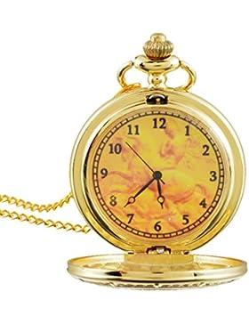 Souarts Vergoldet Farbe Konstellation Antik Nostalgie Design Taschenuhr Klassische Vintage Mode Umhängeuhr Kettenuhr