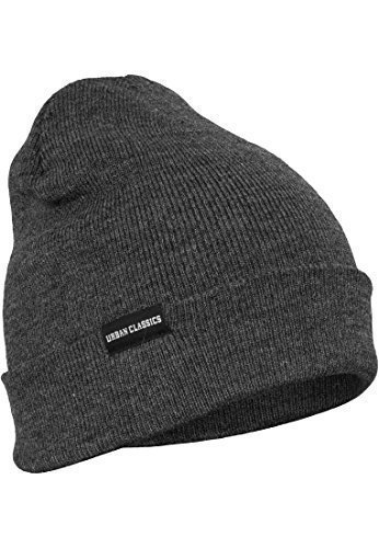 Urban Classics TB811 Basic Flap Beanie Cappello One Size Colore Charcoal