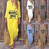 Cinnamou Robe Femme ETEjupe Longue Yoga Ethnique Tunique Simple Vêtements Cocktail Solide Plage Humour Encolure Classique Lâche Vintage Chemisier