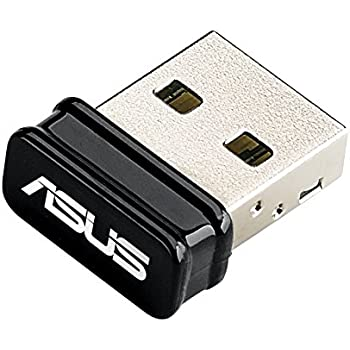 Asus USB-N10-Nano Adattatore di Rete USB Wi-Fi N150 Mbps, Compatibile con Win, MAC, Linux e Raspberry PI 2, Nero