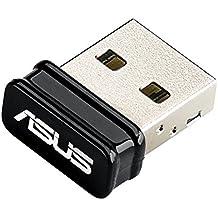 ASUS USB-N10 Nano - Adaptador USB inalámbrico N150 Mbps (Compatible con Raspberry Pi 2), negro