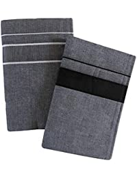 27f85896 NIRANJ MEN'S PURE COTTON PLAIN LUNGI(PACK OF 2) PLAIN COLOR GREY LUNGI(