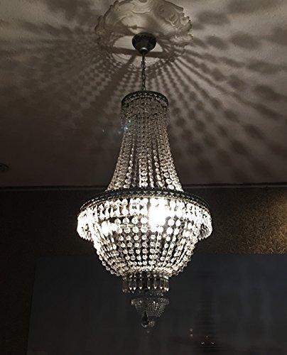 Toller Kronleuchter 75cm Höhe Kristall Style 1a Qualität - Hohe Kristall-kronleuchter