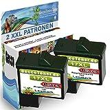 Premium 2x Kompatible Druckerpatronen Als Ersatz für Lexmark 17 XL Schwarz Black BK für Lexmark X2230 X2250 X1180 X1185 X1190 X1250 X1270 X1290 X1196 Z614 Z615 Z617 Z640 Z645 Z717 Z13 Z23 Z517 Z25 Z33 Z34 Z35 Z503 X1130 X1140 X1150 X1155 X1160 X1170 X1100 X1110 2x17-lex