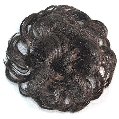 Elvis Perücke Kind (ESAILQ Hübsches Frauen Mädchen lockiges Pferdeschwanz Halter Hairpiece Perücke Haar Ring Brötchen)