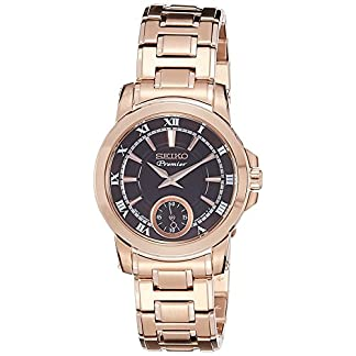 Seiko Premier Analog Black Dial Women's Watch-SRKZ64P1