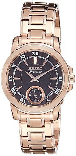 Seiko Premier Analog Black Dial Women's Watch - SRKZ64P1