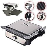 DMS® KG04 Kontaktgrill XXL Elektrogrill Tisch Grill Sandwich Maker Toaster 2000W mit zwei großen abnehmbaren Grillflächen