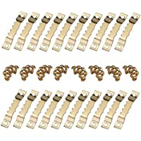 DreamTop 100x diente de sierra picture frame Hanging Ganchos para colgar cuadros herramientas doble agujero con Tornillos