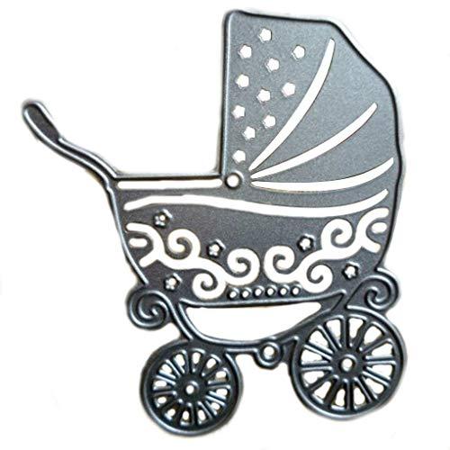 Timlatte DIY Baby Carriage Pattern Cutting Dies Stencil for Scrapbooking Paper Cart