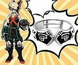 Skylynn--My Hero Academia Anime anello S925 argento regolabile, Si prega di vedere se la dimensione dell'anello è adatta per il dito