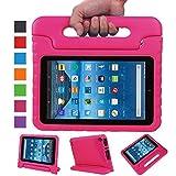 NEWSTYLE Fire 7 2015 Tablet Hülle Eva Stoßfeste Schutzhülle Tragbar für Kinder mit Ständer Schutzhülle Standfunktion für Amazon Fire 7.0 Zoll (5. Generation - 2015 Modell) Tablet,- Rosa