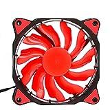 CAOQAO LED Ventilateur De Boitier 120mm DC 12V 3 + 4pin Quiet Edition LED Ventilateur...