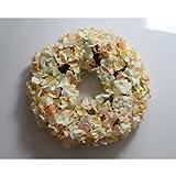Hortensienkranz auf Steckgrund, aprikose, Ø 45cm - Dekokranz - sommerlicher...