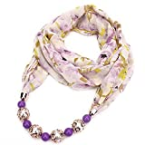 TIANLU Il hijab Western Xia Xue Fang, vento Nazionale Donne ciondoli perline Wai anche Sunscreen sciarpa, Viola